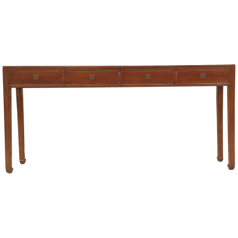Fine Jumu Console Table with Drawers For Sale