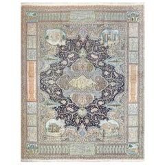 Fine Kork Wool Vintage Tabriz Persian Rug. Size: 11 ft 6 in x 14 ft 9 in