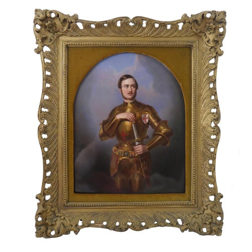 Fine KPM Porcelain Plaque, Prince Albert, circa 1865