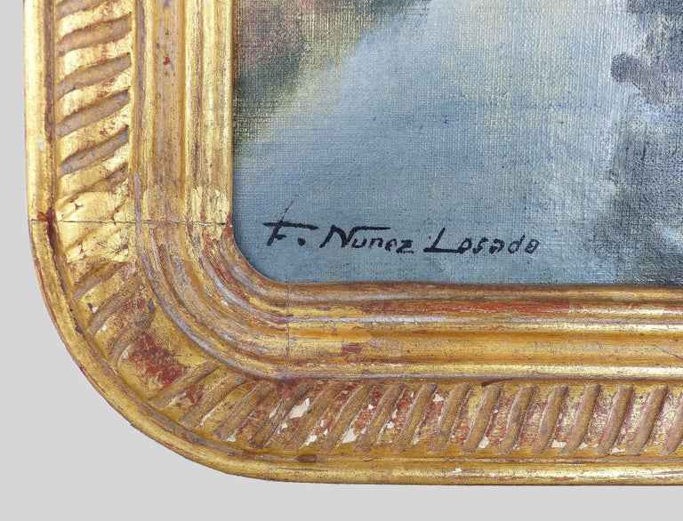 Francisco Nuñez Losada Fine Landscape Oil Painting on Canvas  For Sale 5