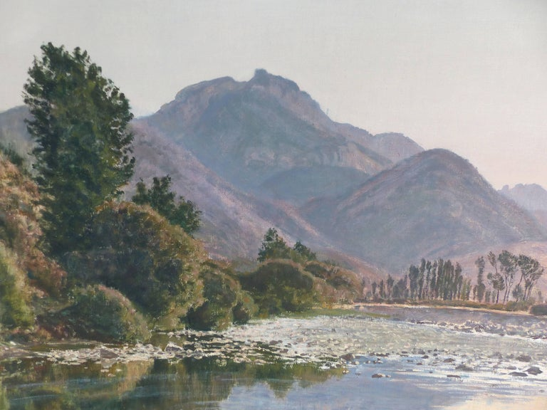 Hand-Painted Francisco Nuñez Losada Fine Landscape Oil Painting on Canvas  For Sale