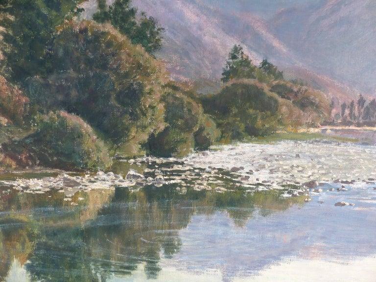 Francisco Nuñez Losada Fine Landscape Oil Painting on Canvas  In Good Condition For Sale In Miami, FL