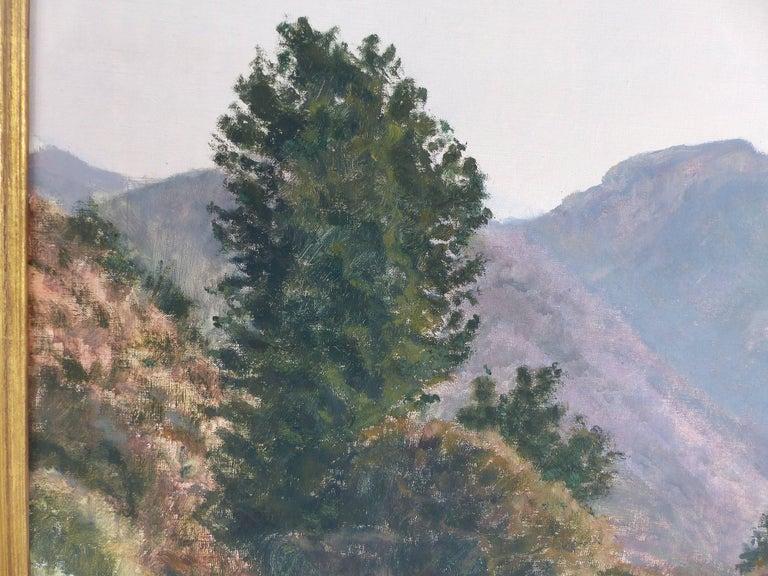 20th Century Francisco Nuñez Losada Fine Landscape Oil Painting on Canvas  For Sale