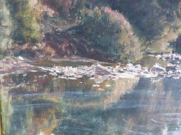 Francisco Nuñez Losada Fine Landscape Oil Painting on Canvas  For Sale 1
