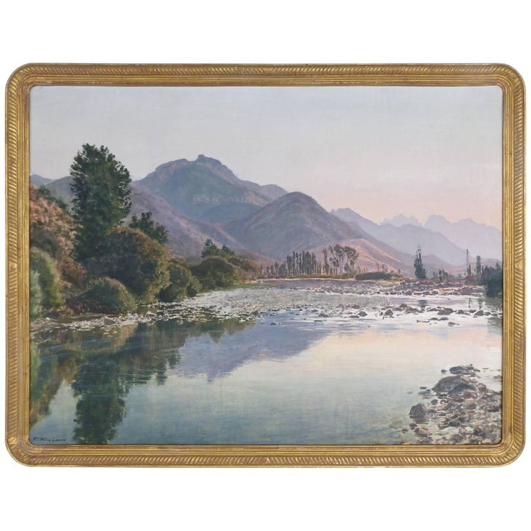 Francisco Nuñez Losada Fine Landscape Oil Painting on Canvas  For Sale