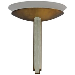 Fine Large French Art Deco Bronze and Glass Wall Light by Perzel
