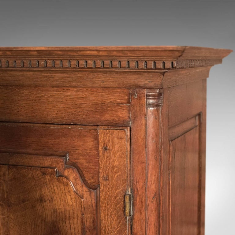Fine Large Georgian Antique Wardrobe Linen Press Cabinet English Oak, circa 1800 For Sale 4
