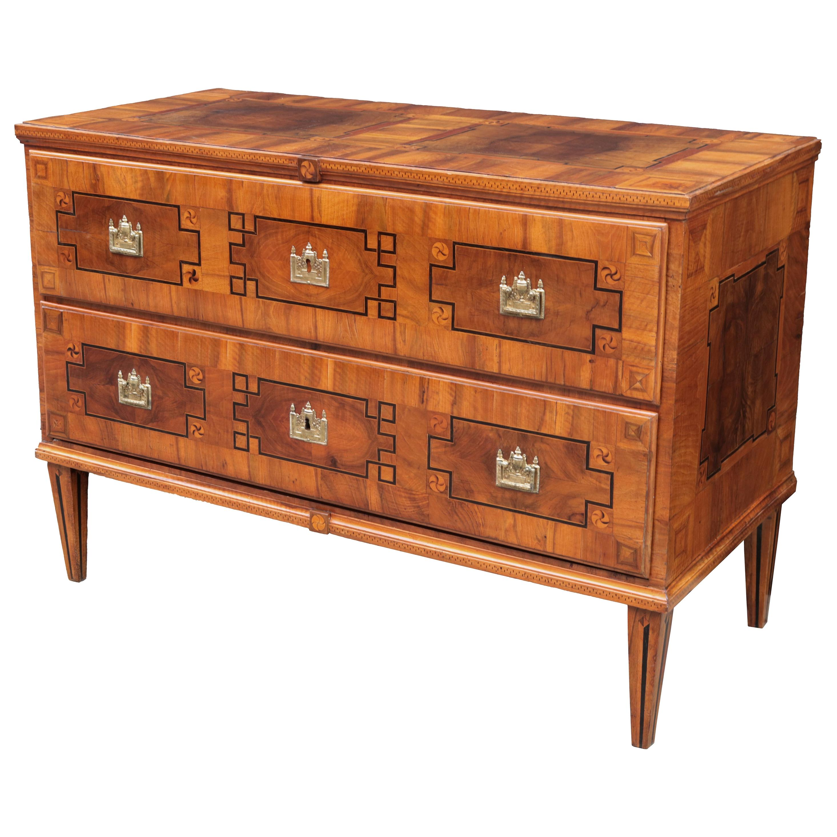 Fine Late 18th Century Inlaid Commode