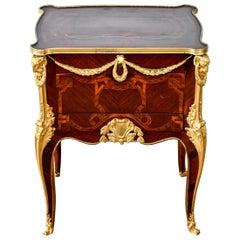 Fine French Louis XVI Mahogany and Gilt Bronze Nightstand Commode