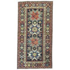 Fine Late 19th Century Antique Caucasian Lesghi Geometric Wool Rug