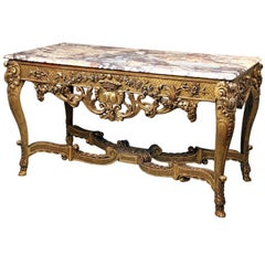 Fine Late 19th Century Louis XV Style Console Table
