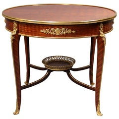 Fine Late 19th Century Parquetry Center Table