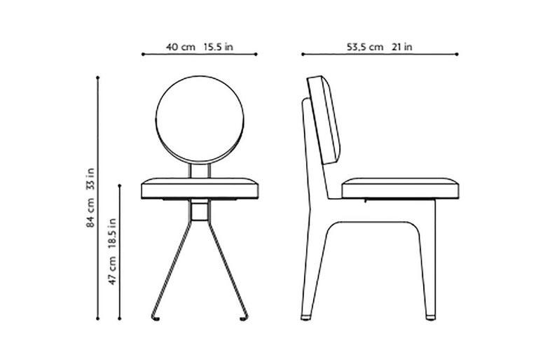 Appliqué Fine Leather Office Chair,