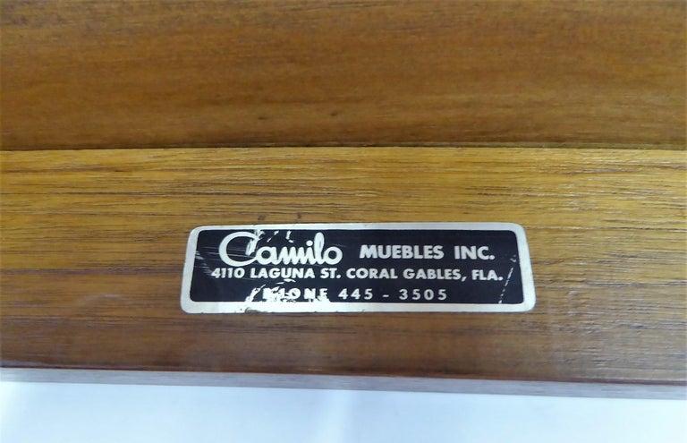 Fine Long Figured Walnut Coffee Cocktail Table Camilo Miami, 1960s For Sale 4