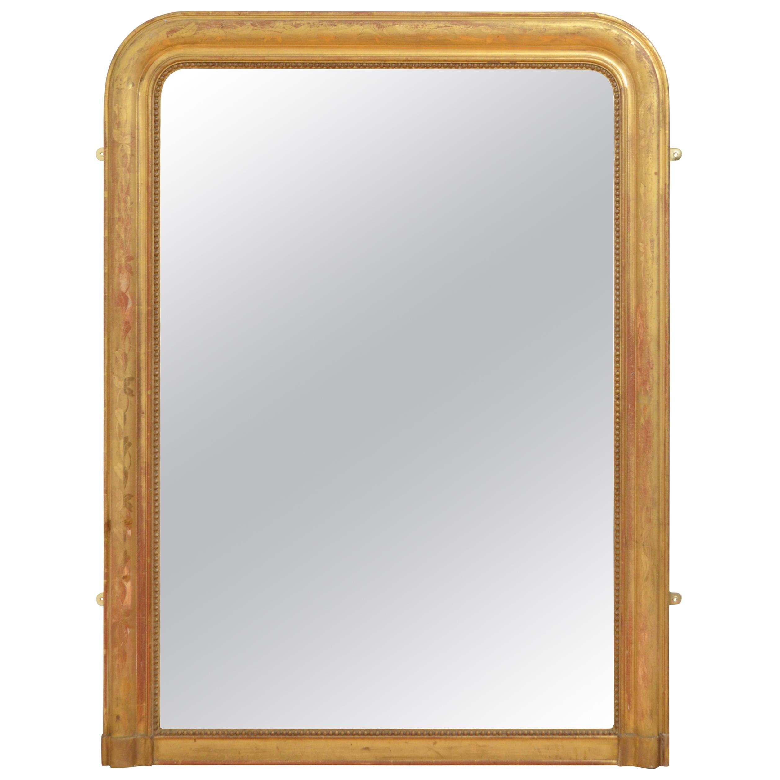 Fine Louis Philippe 19th Century Giltwood Wall Mirror