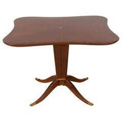 Fine Mahogany and Rosewood Table by Paolo Buffa