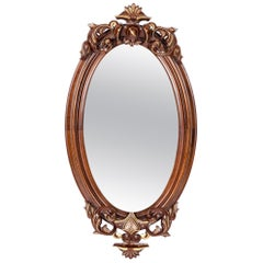 Fine Mahogany Wood Framed Victorian Hanging Mirror