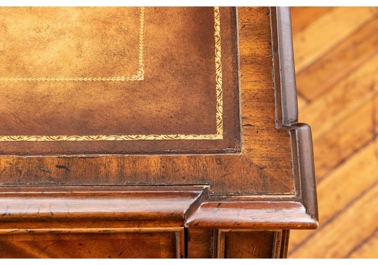 Fine Maitland - Smith French Regency Style Burled Mahogany Leather Top Desk For Sale 6