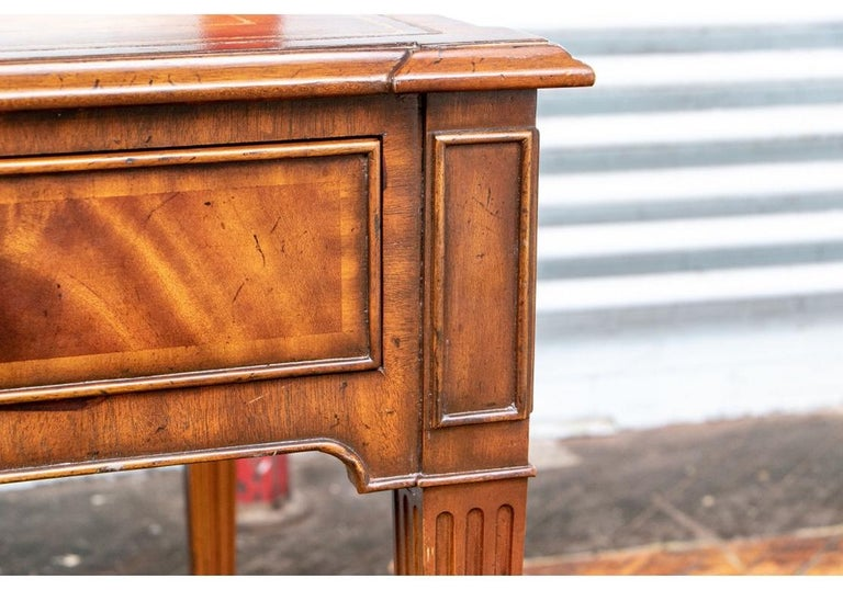 Fine Maitland - Smith French Regency Style Burled Mahogany Leather Top Desk For Sale 3