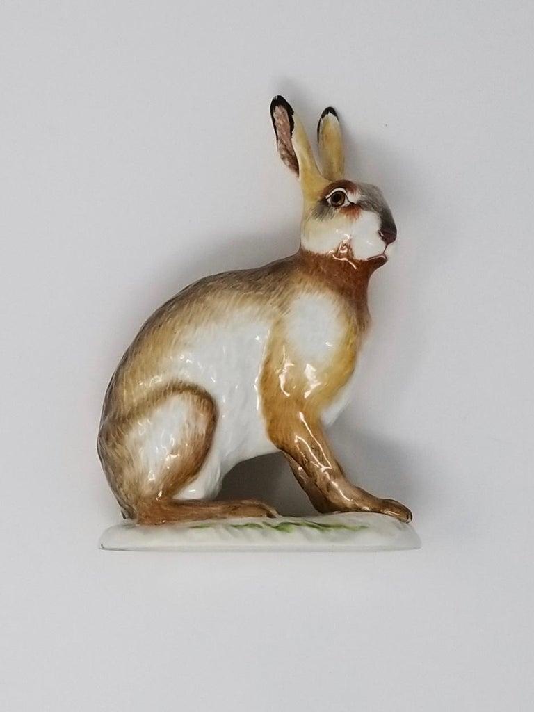 Fine Meissen Porcelain Figure of a Rabbit after a Model by J. J. Kandler For Sale 1