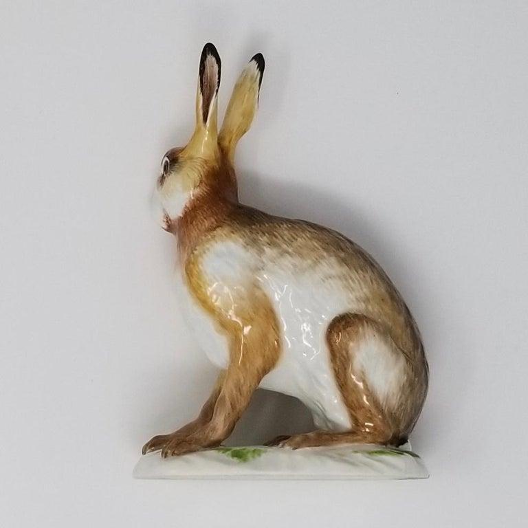 Fine Meissen Porcelain Figure of a Rabbit after a Model by J. J. Kandler For Sale 2