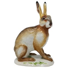Fine Meissen Porcelain Figure of a Rabbit after a Model by J. J. Kandler