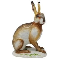 Fine Meissen Porcelain Figure of a Rabbit after a Model by J. J. Kandler
