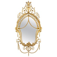 Fine Mid-19th Century Giltwood and Gesso Mirror by Gillows of Lancaster