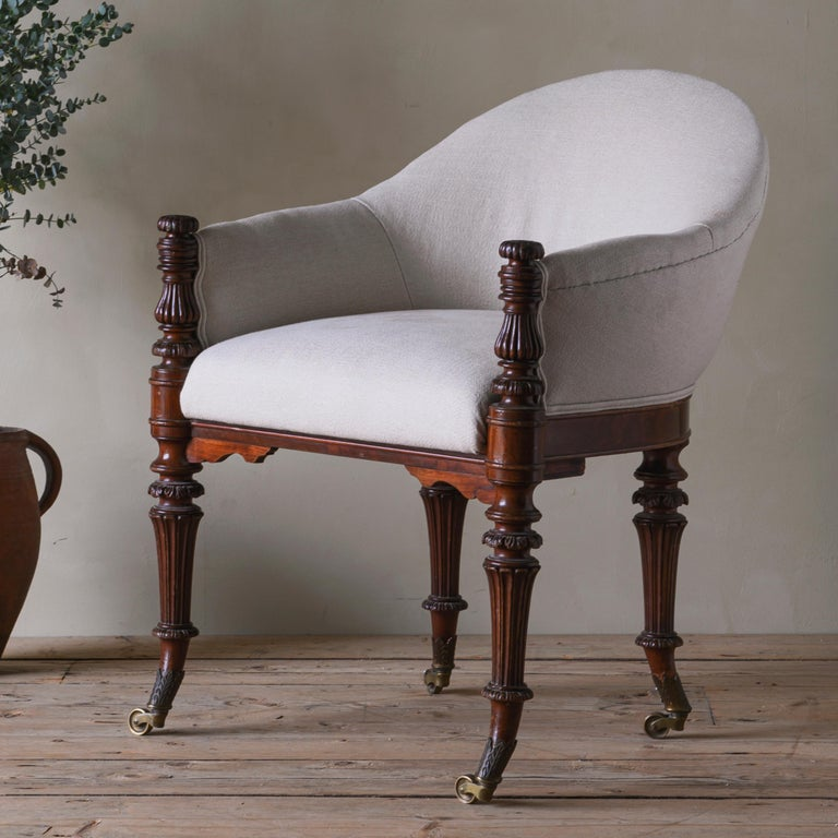 Danish Fine Mid 19th Century Neoclassical Armchair For Sale