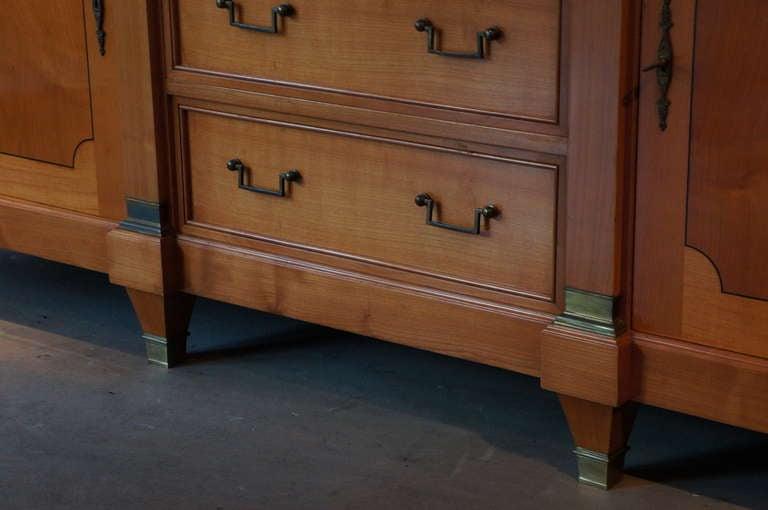 Hollywood Regency Fine Midcentury Cherry Wood Sideboard For Sale