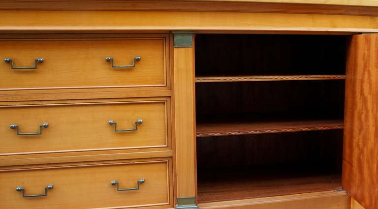 Fine Midcentury Cherry Wood Sideboard For Sale 1