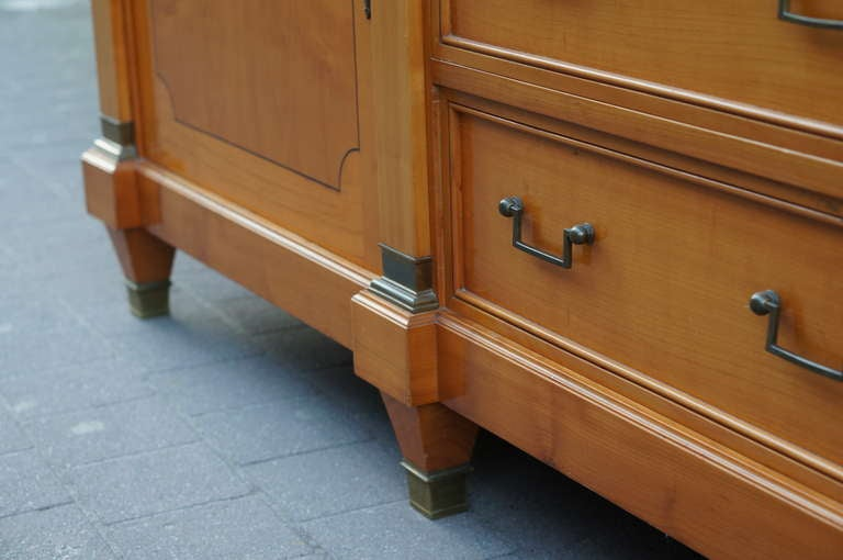 Fine Midcentury Cherry Wood Sideboard For Sale 2