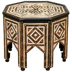 Fine Moroccan Inlaid Octagonal Tent Table