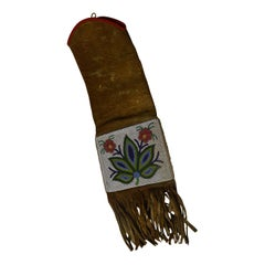 Fine Native American Ojibwe Beaded Pipe Bag, 19th Century