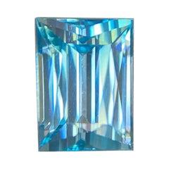 Fine Natural Vivid Neon Blue Zircon 2.38ct Fancy Cut Loose Gem