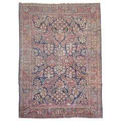 Fine Navy Blue Handmade Wool Persian Tradional Room Size Sarouk Rug