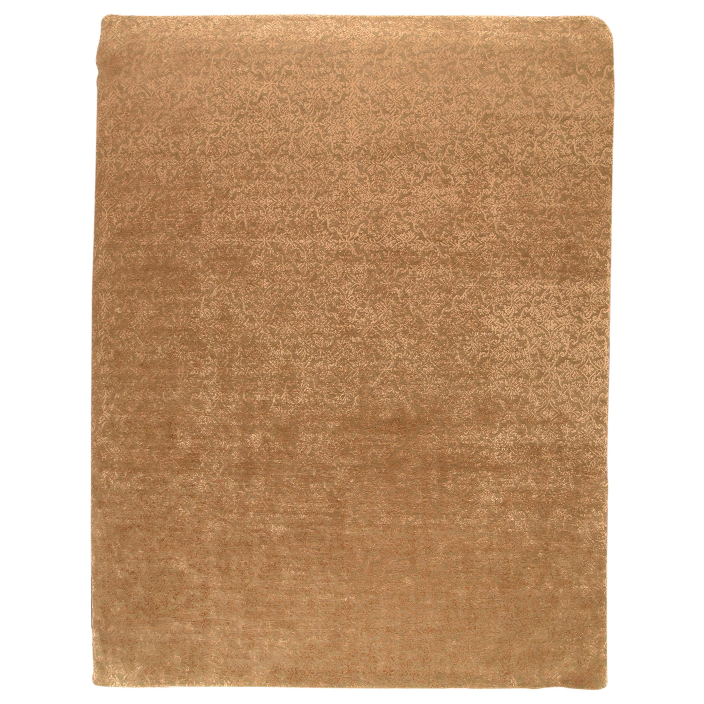 Fine Nepalease Rug, Wool & Silk, Hand Knotted