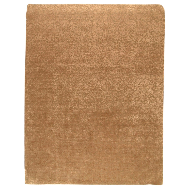 Fine Nepalease Rug, Wool & Silk, Hand Knotted For Sale