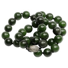 Fine Nephrite Jade Necklace