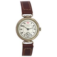 Fine Nickel 1920s Vintage Otis Trench Watch