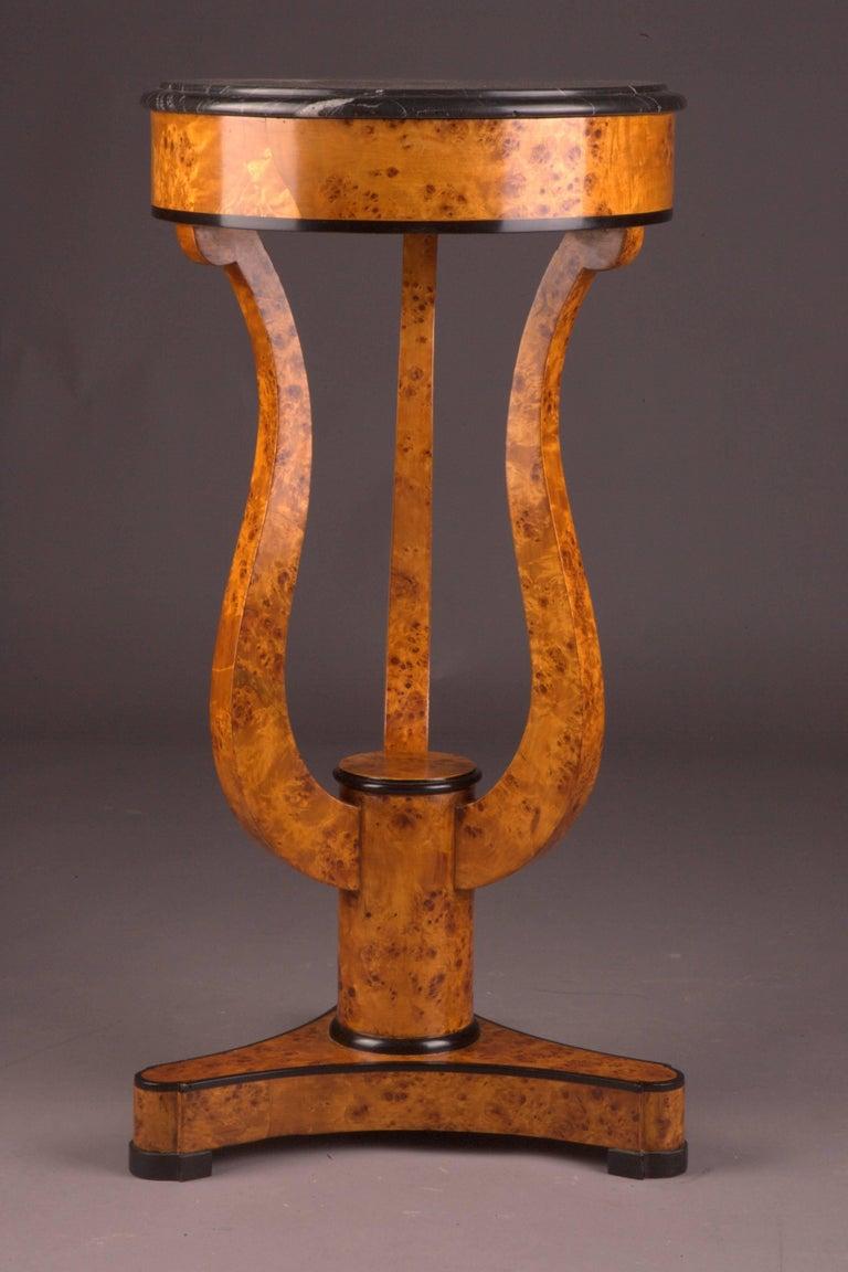 Birdseye Maple Fine Occasional Side Table in Vienna Biedermeier Style For Sale