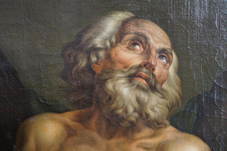 Baroque Fine Oil on Canvas Inverse Copy of Saint Andrew by Anton Pavlovich Losenko For Sale
