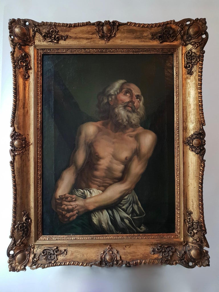 Russian Fine Oil on Canvas Inverse Copy of Saint Andrew by Anton Pavlovich Losenko For Sale
