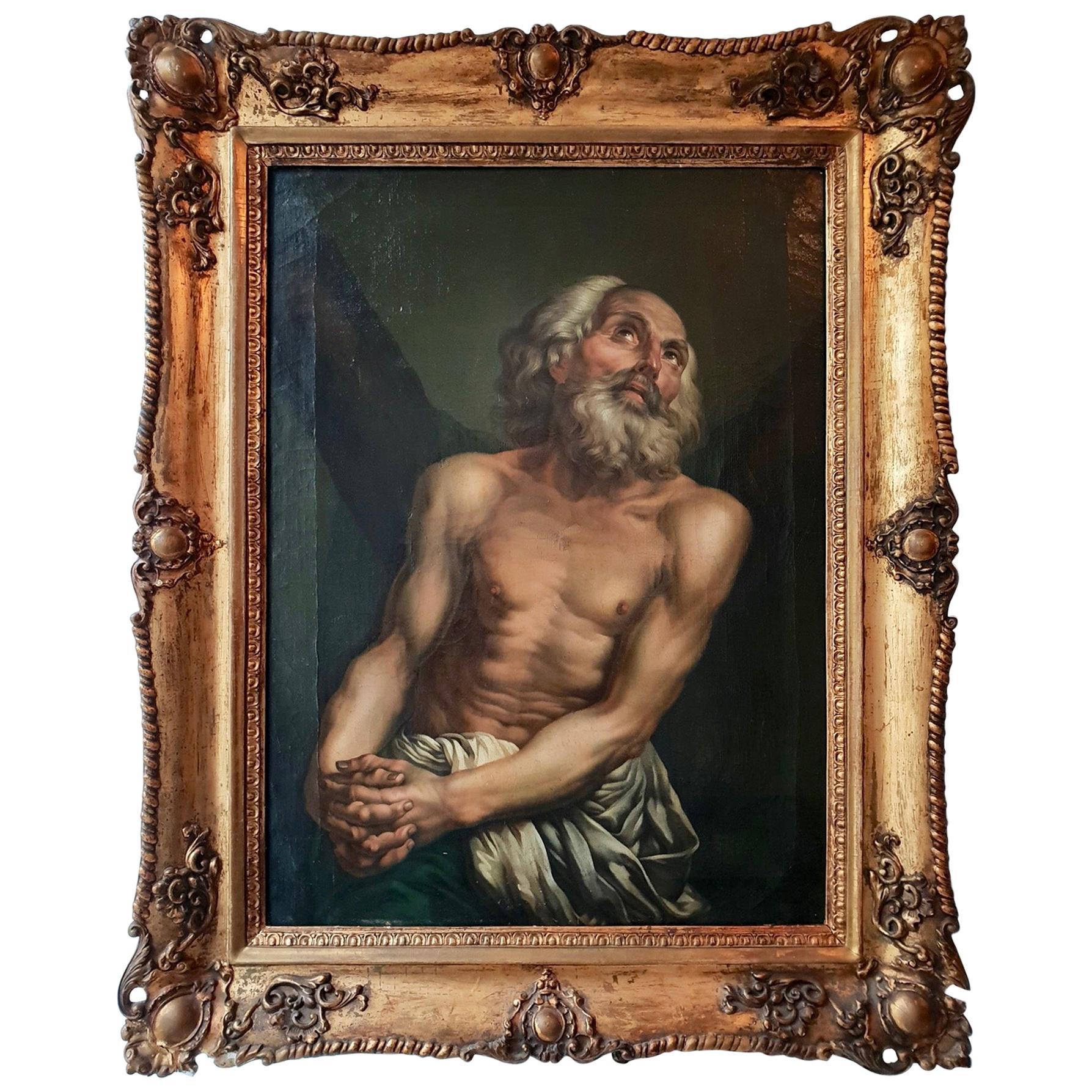 Fine Oil on Canvas Inverse Copy of Saint Andrew by Anton Pavlovich Losenko