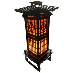 Fine Old Japanese Tall Shoji Floor Light Midcentury, Immediately Usable