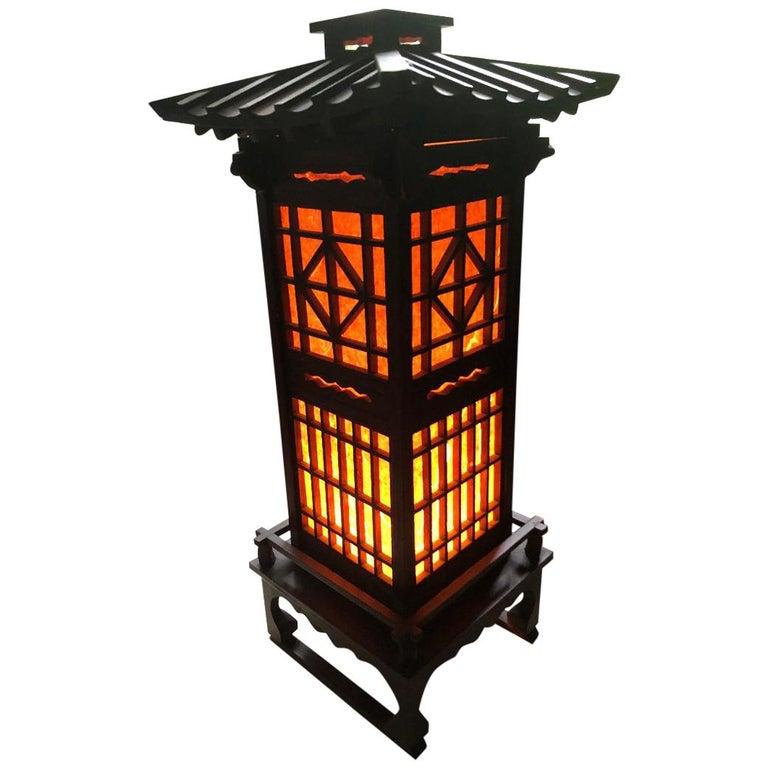 Fine Old Japanese Tall Shoji Floor Light Midcentury Immediately Usable