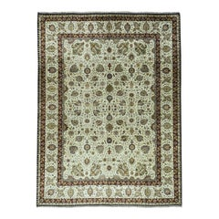 Fine Oriental Pure Wool Antiqued Tabriz Hand Knotted Rug