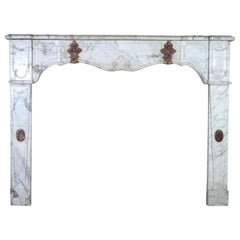 Fine Original Antique Italian Marble Fireplace Surround