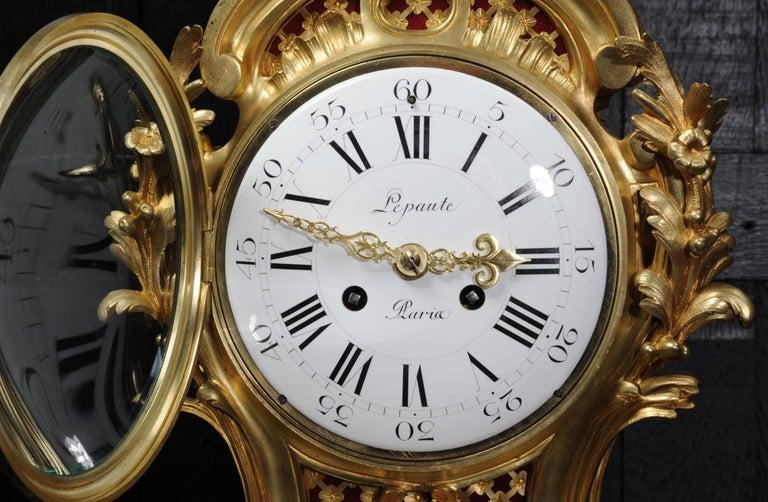 Fine Ormolu Rococo Clock by Henry Lepaute For Sale 9