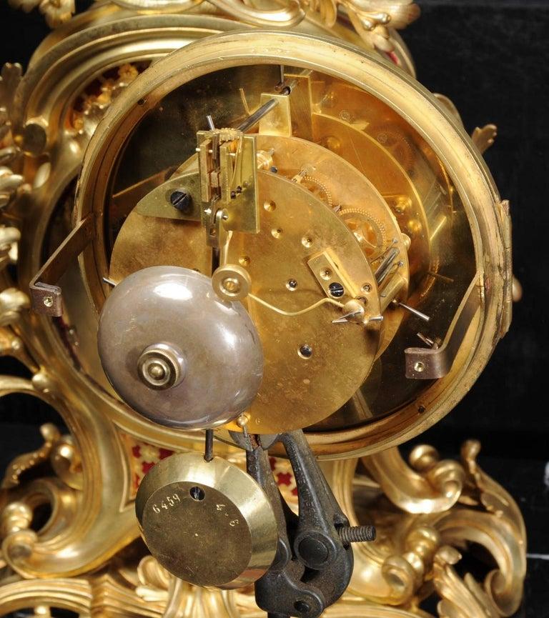 Fine Ormolu Rococo Clock by Henry Lepaute For Sale 10